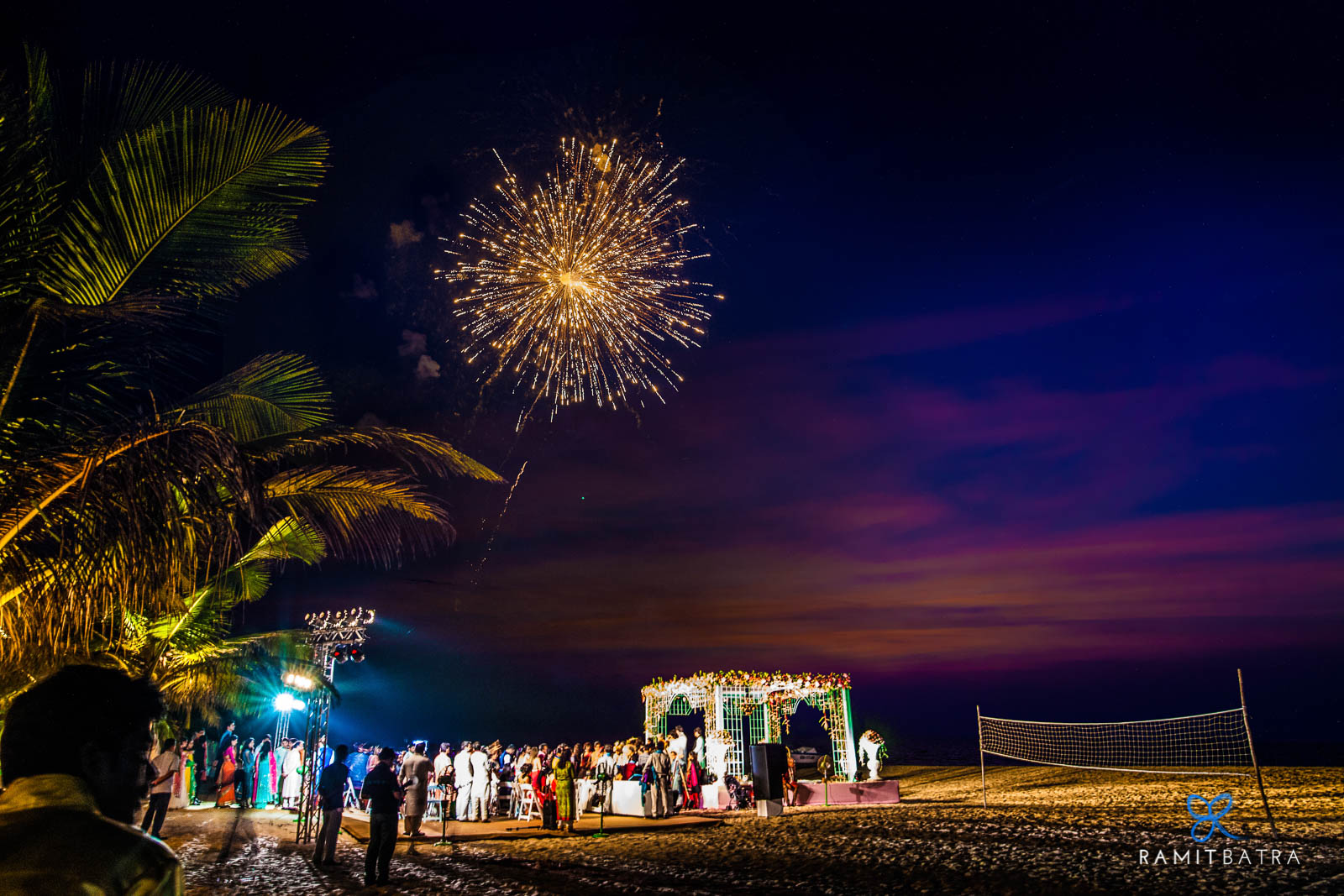 Wedding Fireworks - Park Hyatt Resort & Spa, Goa